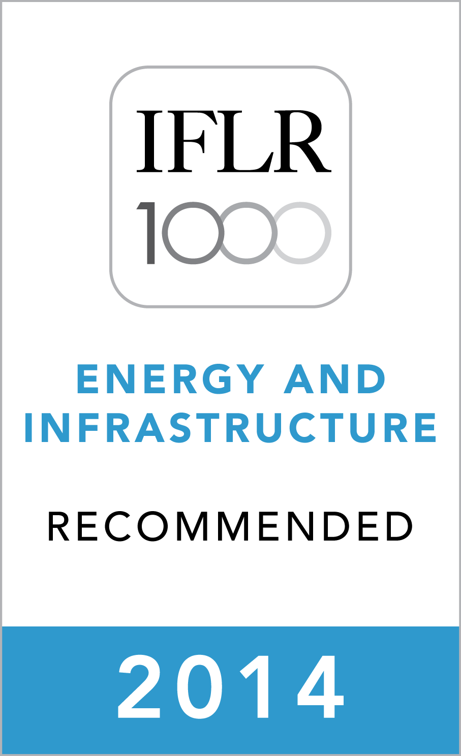 MG ADVOGADOS is a recommended firm by IFLR 1000 for Energy and Infrastructure